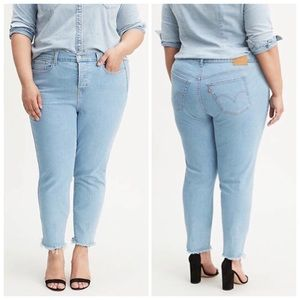 NEW Levi's Plus Size Wedgie Skinny Ankle Jeans